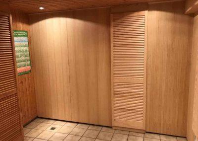 Saunaausbau-Kiefer-Echtholz